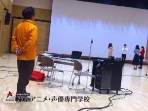 出張アニメ声優体験を開催。