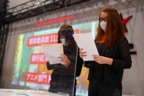 JESC奨励賞候補作品 プレゼンテーションリハーサルの様子。