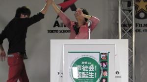 8.新会長大喜び