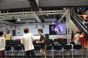 ステージに照明